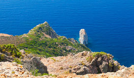 Κορσική Corse-du-sud, τοπίο περιοχών Piana Στοκ φωτογραφία με δικαίωμα ελεύθερης χρήσης