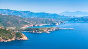 Κορσική Corse-du-sud, τοπίο περιοχών Piana Στοκ φωτογραφίες με δικαίωμα ελεύθερης χρήσης