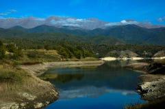 κορσικανικά βουνά βουνών λιμνών λάκκας creno de Γαλλία της Κορσικής Στοκ Φωτογραφίες