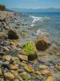 Κορσικανική ακτή στοκ φωτογραφία