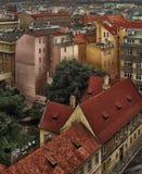 Κορυφές στεγών της Πράγας στοκ εικόνα