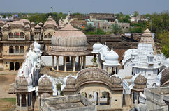 Κορυφές στεγών, Mandawa, Rajasthan, Ινδία Στοκ εικόνα με δικαίωμα ελεύθερης χρήσης