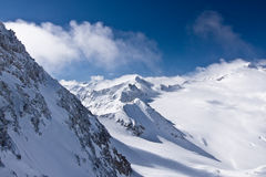 Κορυφή βουνών παγετώνων στις Άλπεις Στοκ φωτογραφία με δικαίωμα ελεύθερης χρήσης