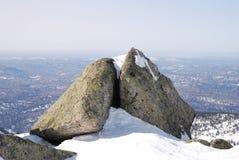 κορυφή βουνών mustag Στοκ Φωτογραφίες