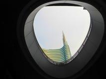 Κορυφή ενός ουρανοξύστη Στοκ Εικόνες