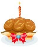 κορυφή κεριών cupcake ελεύθερη απεικόνιση δικαιώματος