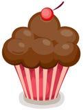 κορυφή κεριών cupcake Στοκ φωτογραφία με δικαίωμα ελεύθερης χρήσης
