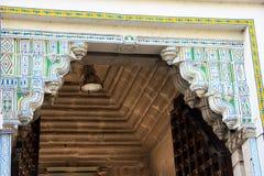 Κορυφή πορτών στο παλάτι πόλεων, Udaipur Στοκ Φωτογραφίες