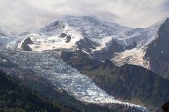 Κορυφή της Mont Blanc, παγετώνας Στοκ Εικόνα