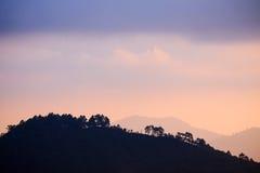 Κορυφή του βουνού στο εθνικό πάρκο Angkhang Στοκ Εικόνα