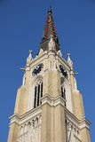 Κορυφή του καθεδρικού ναού στο Νόβι Σαντ Στοκ φωτογραφίες με δικαίωμα ελεύθερης χρήσης