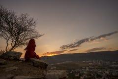 Κορυφή του ναού Savitri σε Puskar, Ινδία Στοκ Φωτογραφίες