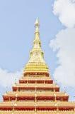 Κορυφή του ταϊλανδικού ύφους ναών σε Khon Kaen Ταϊλάνδη Στοκ εικόνες με δικαίωμα ελεύθερης χρήσης