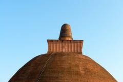 Κορυφή του dagoba (stupa) στη Σρι Λάνκα Στοκ εικόνα με δικαίωμα ελεύθερης χρήσης