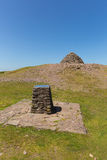 Κορυφή του Hill Dunkery το υψηλότερο σημείο σε Exmoor πλησίον στην κεφαλή νάρκης Somerset Αγγλία UK το καλοκαίρι Στοκ Εικόνες