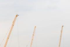 Κορυφή των γερανών τρίο Στοκ φωτογραφίες με δικαίωμα ελεύθερης χρήσης