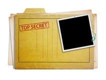 Κορυφή - φάκελλος που απομονώνεται μυστικός στοκ εικόνα