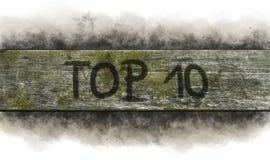 κορυφή 10 Στοκ Εικόνα