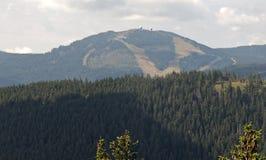 Κορυφή Großer Arber - το υψηλότερο βουνό σε Bayerische Wald Στοκ φωτογραφίες με δικαίωμα ελεύθερης χρήσης