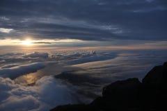 κορυφή pico βουνών Στοκ Φωτογραφίες