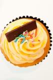 Κορυφαία όψη βανίλιας cupcake Στοκ φωτογραφία με δικαίωμα ελεύθερης χρήσης