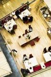 κορυφαία όψη καφέδων Στοκ Εικόνες