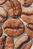 κορυφαία όψη καφέ φασολιώ&nu Στοκ Εικόνα