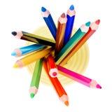 κορυφαία όψη μολυβιών βάζ&omega Στοκ Φωτογραφία