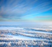 κορυφαία όψη ποταμών ημέρας & Στοκ Εικόνα