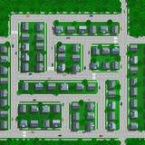 κορυφαία όψη πόλεων απεικόνιση αποθεμάτων