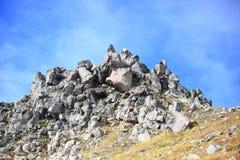 κορυφαία όψη στεγών ΑΜ βουνών klilimanjaro kilimanjaro της Αφρικής υψηλότερη οριζόντια Yakedake, βόρειες Άλπεις, Ναγκάνο, Ιαπωνία Στοκ εικόνες με δικαίωμα ελεύθερης χρήσης