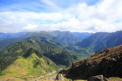 κορυφαία όψη στεγών ΑΜ βουνών klilimanjaro kilimanjaro της Αφρικής υψηλότερη οριζόντια Yakedake, βόρειες Άλπεις, Ναγκάνο, Ιαπωνία Στοκ φωτογραφίες με δικαίωμα ελεύθερης χρήσης