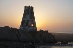 κορυφαία όψη του Ατλαντικού Ωκεανού Καζαμπλάνκα Μαρόκο Στοκ εικόνα με δικαίωμα ελεύθερης χρήσης