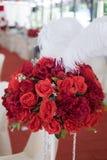 κορυφαία όψη τριαντάφυλλων ανθοδεσμών Στοκ Φωτογραφία