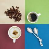 κορυφαία όψη φλυτζανιών καφέ Στοκ Εικόνες