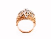 Κορυφαία όψη δαχτυλιδιών διαμαντιών Στοκ Εικόνα