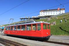 κορυφαίο τραίνο της Ελβ&e Στοκ Εικόνες