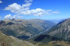 Κορυφογραμμές του Καύκασου. Στοκ Φωτογραφία