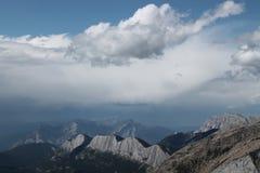 Κορυφογραμμή βουνών οριζόντων Sulfer Στοκ Φωτογραφίες