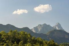 Κορυφογραμμή βουνών στην ακτή της Τουρκίας Στοκ Φωτογραφία