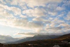 Κορυφογραμμή βουνών της Ουκρανίας Στοκ φωτογραφία με δικαίωμα ελεύθερης χρήσης