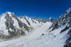 Κορυφογραμμή βουνών χιονιού στις Άλπεις στοκ εικόνες