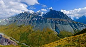 κορυφογραμμή βουνών altai Στοκ Εικόνα