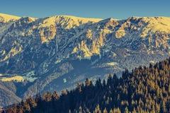 Κορυφογραμμή βουνών Bucegi, Ρουμανία Στοκ Φωτογραφίες
