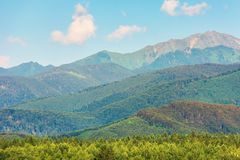 Κορυφογραμμή βουνών Fagaras το απόγευμα στοκ εικόνες με δικαίωμα ελεύθερης χρήσης
