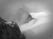 Κορυφογραμμή χιονιού του Aiguille du Midi στοκ εικόνες με δικαίωμα ελεύθερης χρήσης