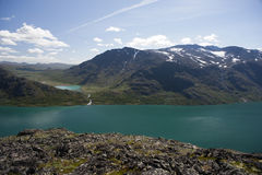 Κορυφογραμμή Besseggen στο εθνικό πάρκο Jotunheimen στοκ εικόνες