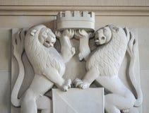 Κορώνα λαβής λιονταριών Στοκ Εικόνες
