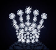 Κορώνα βασίλισσας διαμαντιών Στοκ Φωτογραφία