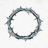 Κορώνα του σκίτσου του Ιησούς Χριστού αγκαθιών, χειροποίητη διανυσματική απεικόνιση